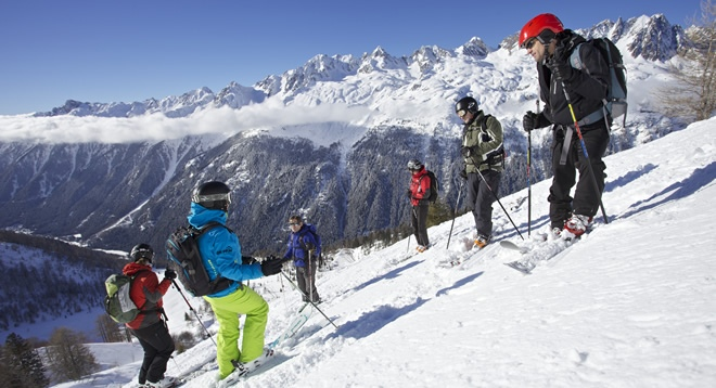 Skiing at Les Grands Montets
