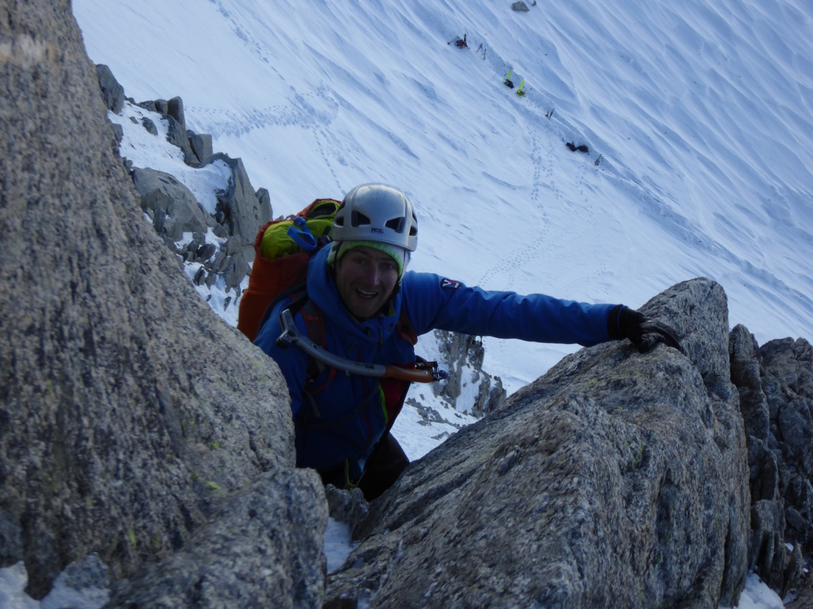 Climbing at Les Grands Montets